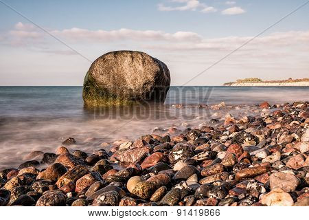 Rocks On Shore Of The Baltic Sea