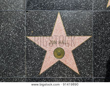 Jon Hall's Star On Hollywood Walk Of Fame
