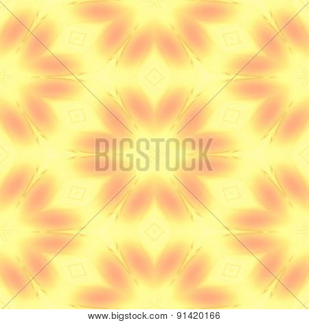 Abstract Soft Yellow Texture With Flower Pattern Made Seamless