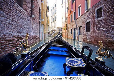 The Beautiful view of a Venice canal, Italy