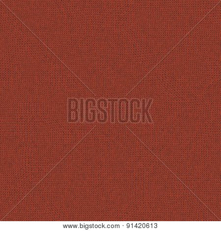 Seamless Tangerine Tango Knitted Wool Texture For Textile Background