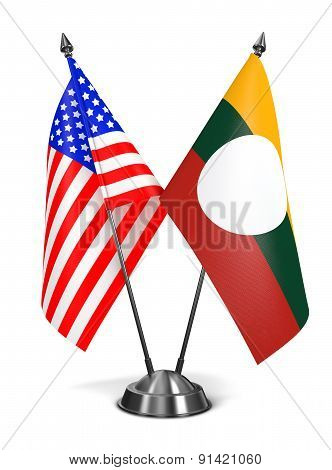 USA and Shan State - Miniature Flags.