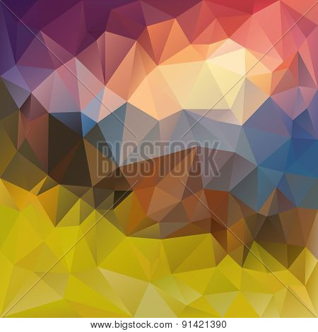 Vector Polygonal Vector Polygonal Background Triangular Lands