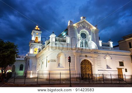 Old Cuenca Cathedral At Night