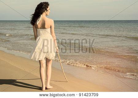 Walking On The Beach Warm Filter Applied