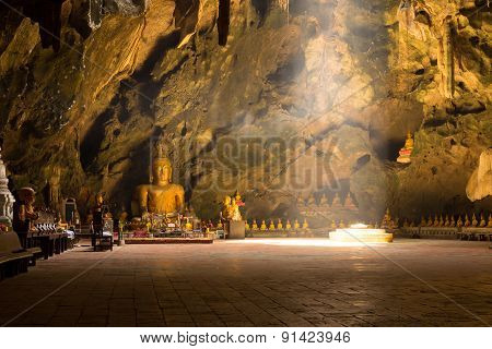 Light in cave.