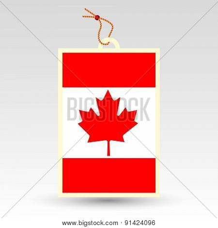 Vector Simple Canadian Price Tag - Symbol Of Made In Canada - Flag