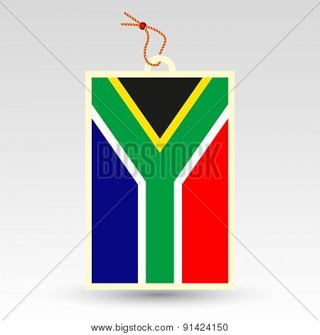 Vector Simple South African Price Tag - Symbol Of Made In Africa - Flag