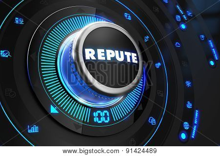 Repute Controller on Black Control Console.