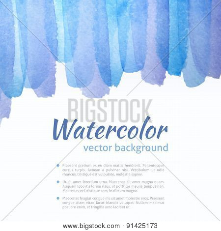 Watercolor Vector Blue And Purple Background