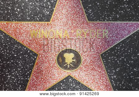 Winona Ryders Star On Hollywood Walk Of Fame