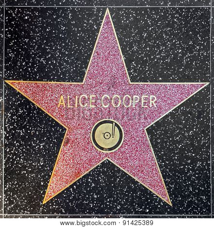 Alice Cooper's Star On Hollywood Walk Of Fame