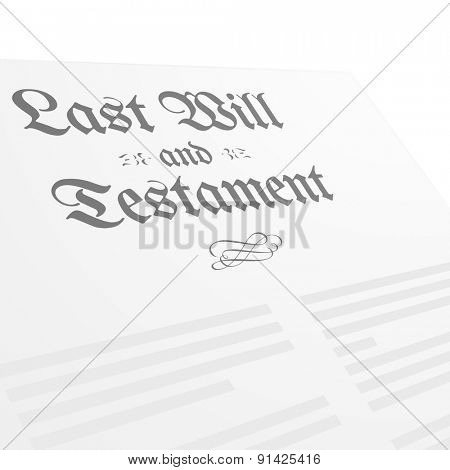 detailed illustration of a Testament Letter head, eps10 vector