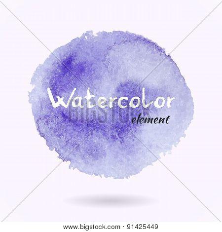 Watercolor Vector Purple Element