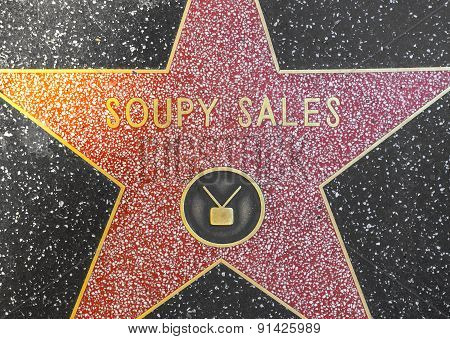 Soupy Sales's Star On Hollywood Walk Of Fame