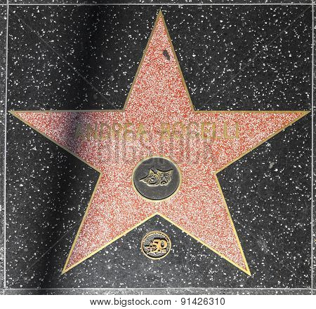 Andrea Bocelli's Star On Hollywood Walk Of Fame