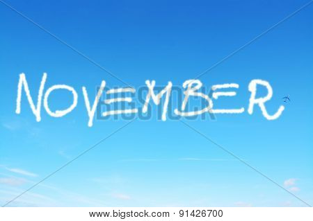 November Written In The Sky