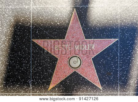 Bette Midler's Star On Hollywood Walk Of Fame