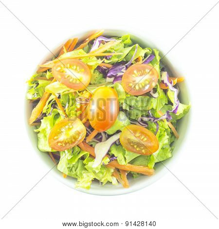 Mixed Salad With Colorful Vegetable