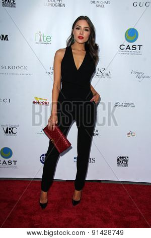 LOS ANGELES - MAY 21:  Olivia Culpo at the 17th From Slavery to Freedom Gala at the Skirball Center on May 21, 2015 in Los Angeles, CA