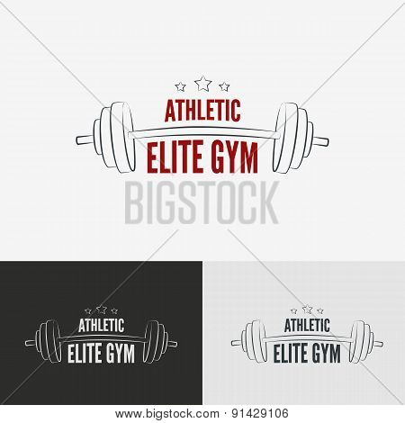 Athletic gym logo concept.