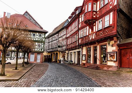 Medieval half-timbered little town Miltenberg, Germany