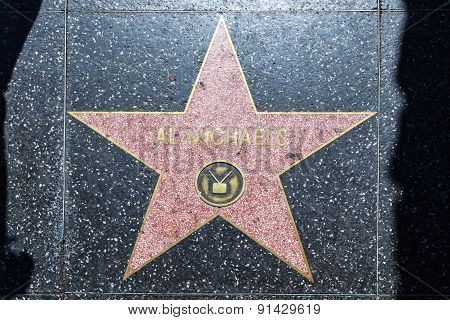 Al Michaels Star On Hollywood Walk Of Fame