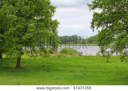 The View Of Meadow And River