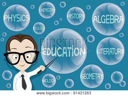 Vector illustration. Education