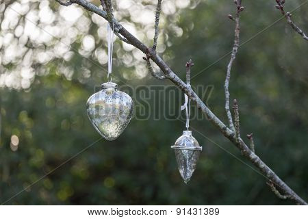 Christmas Baubles Outside