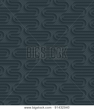 Dark perforated paper with outline extrude effect. 3d seamless background. See others in My Perforated Paper Sets.