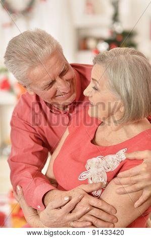 Mature couple celebrating