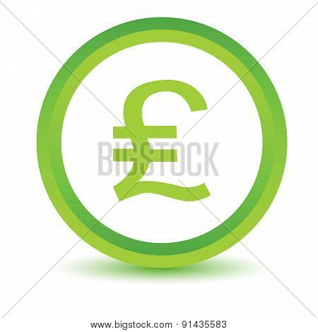 Pound sterling volumetric icon