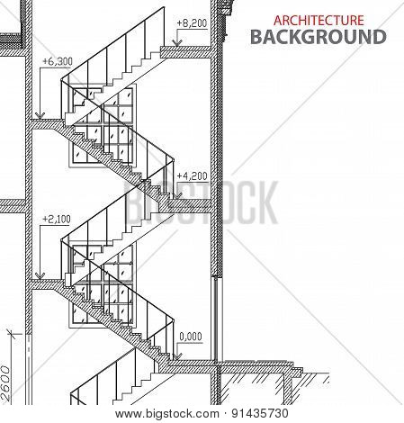 Stairs architecture background