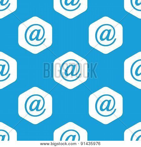 E-mail hexagon pattern