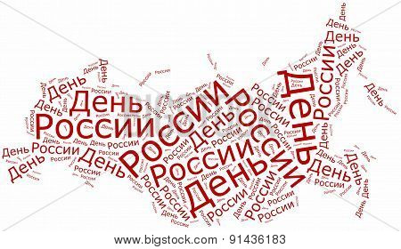 Russia Day. Holiday Celebrated On 12 June.