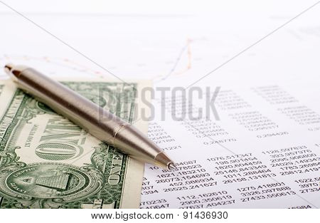 Document with dollars