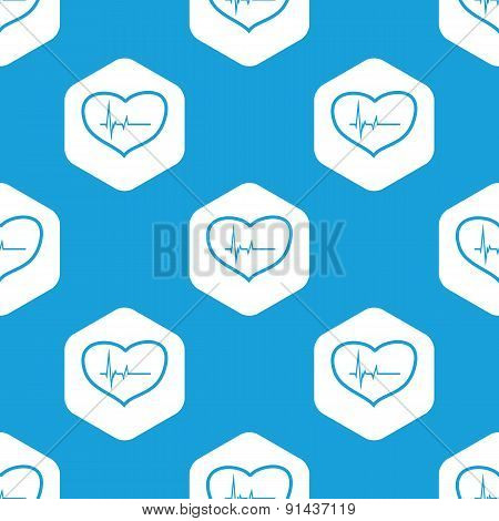 Cardiology hexagon pattern