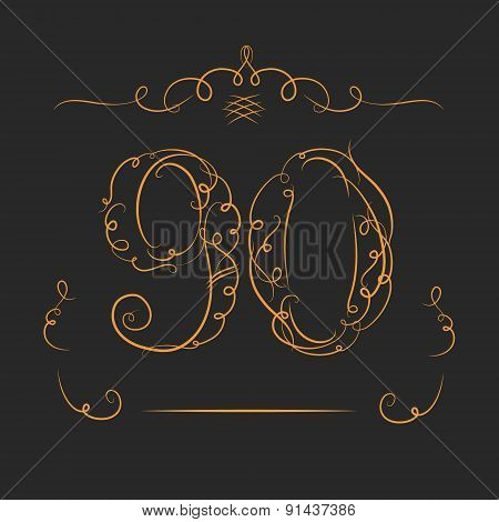 Anniversary 90th signs