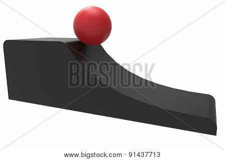 Ball Rolling From A Slope
