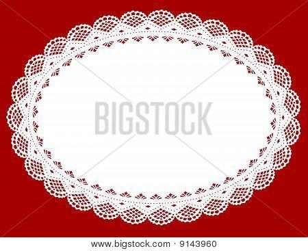 White Lace Doily Mat