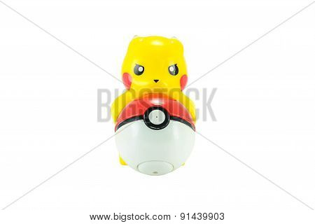 Pickachu Toy Character From Pokemon Anime.