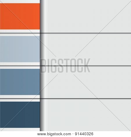 Illustration Template, From Horizontal Strips With Text Areas For Four Options