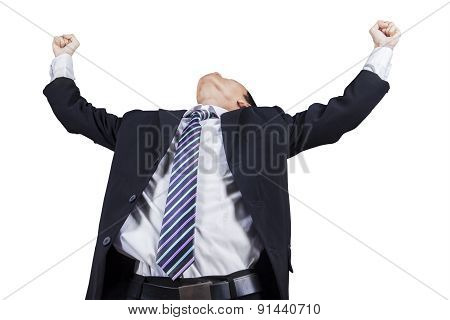 Male Entrepreneur Celebrating His Victory