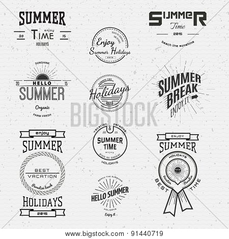 Summer Holidays Badges Logos And Labels For Any Use