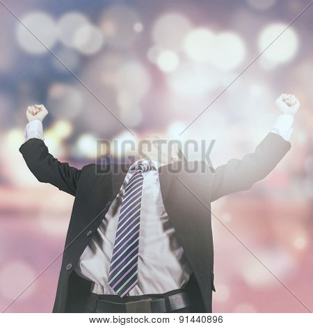Successful Businessman With Bokeh Background