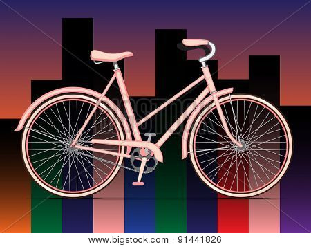 Women Pink City Bicycle