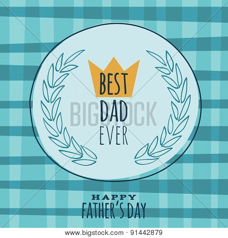 Fathers Day retro vintage greeting card vector design.