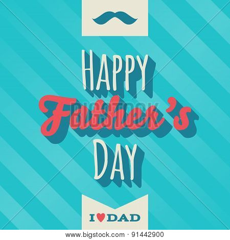 Happy fathers day vintage greeting card.