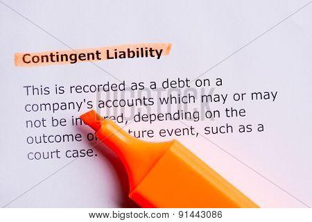 Contigent Liability